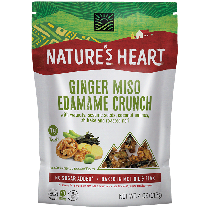 Ginger Miso Edamame Crunch - Nature's Heart - Keto Certified by the Paleo Foundation