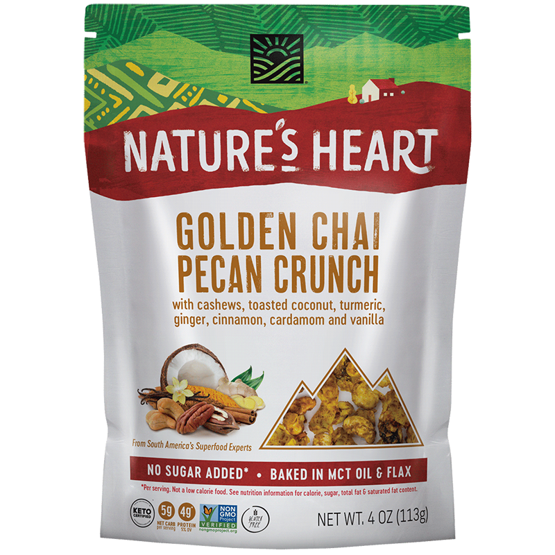 Golden Chai Pecan Crunch - Nature's Heart - Keto Certified by the Paleo Foundation