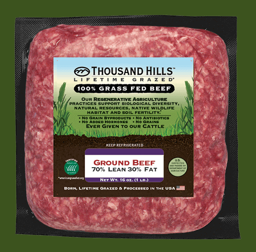 Keto Blend Ground Beef Gallery 2 - Thousand Hills Lifetime Grazed - Certified Paleo Keto Certified by the Paleo Foundation