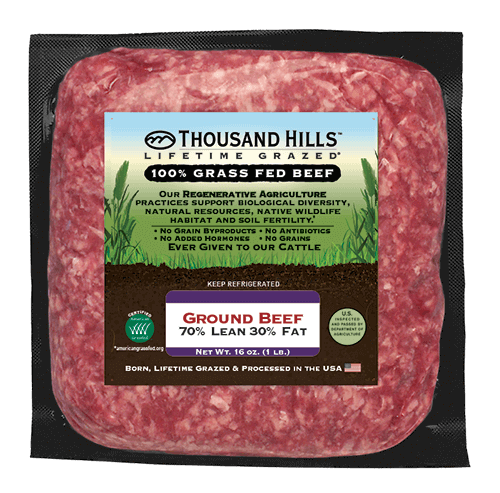 Keto Blend Ground Beef - Thousand Hills Lifetime Grazed - Certified Paleo Keto Certified by the Paleo Foundation