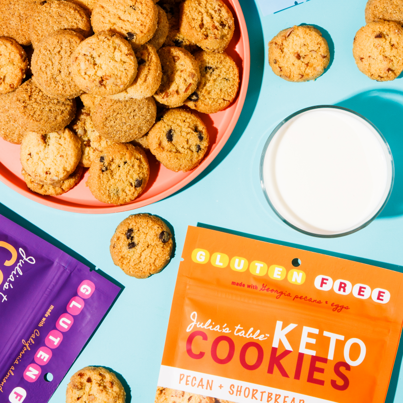 Keto Cookies With Milk 4 - Julia's Table - Keto Certified by the Paleo Foundation