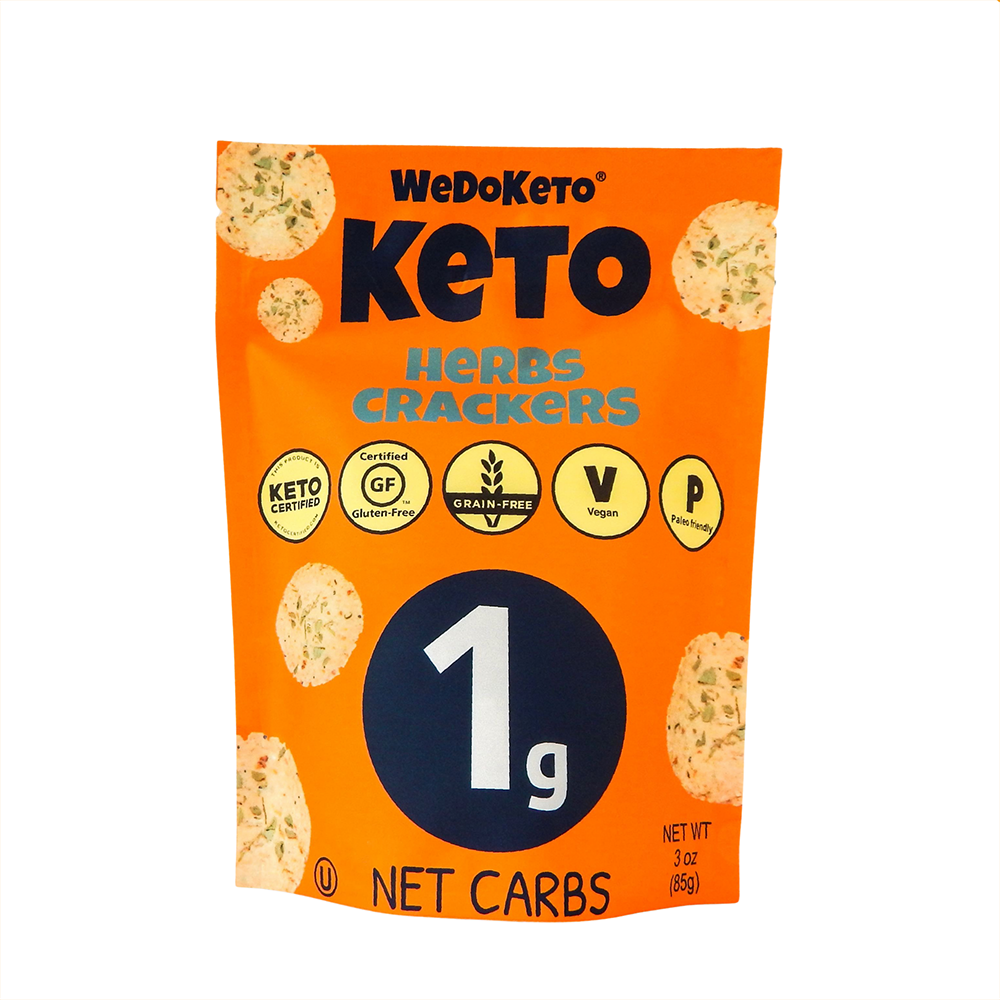 Keto Herbs Crackers - WeDoKeto - Keto Certified by the Paleo Foundation