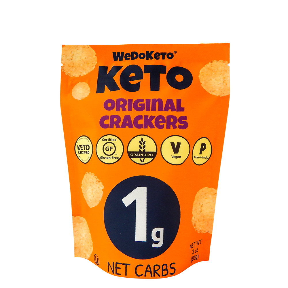 Keto Original Crackers - WeDoKeto - Keto Certified by the Paleo Foundation