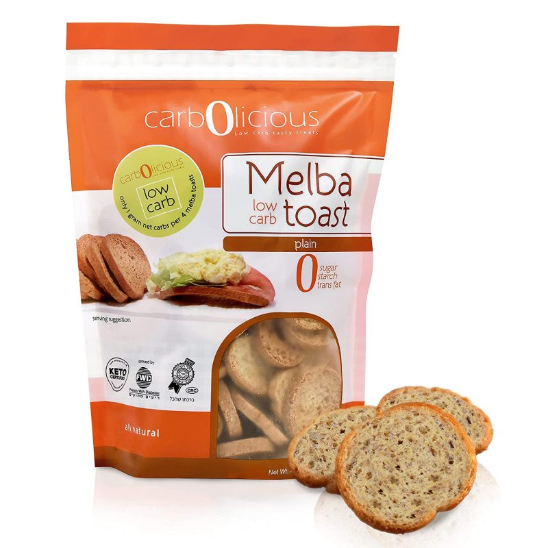 Low Carb Melba Plain - Carbolicious - Keto Certified by the Paleo Foundation