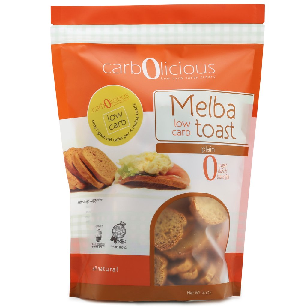 Low Carb Melba Toast Plain - Carbolicious - Keto Certified by the Paleo Foundation