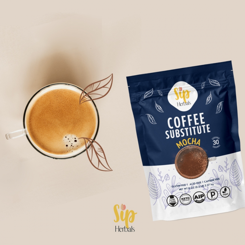Mocha Coffee Substitute - Sip Herbal - Certified Paleo Keto Certified by the Paleo Foundation