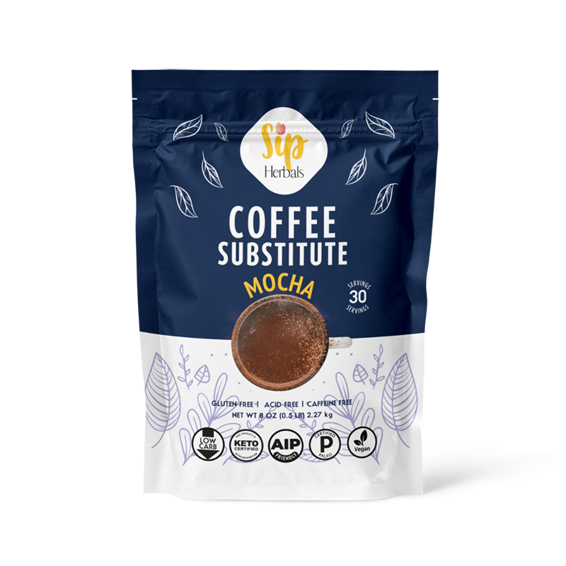 Mocha Coffee Substitute - Sip Herbals - Certified Paleo Keto Certified by the Paleo Foundation