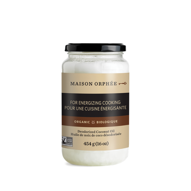 Organic Deodorized Coconut Oil - Maison Orphee - Keto Certified by the Paleo Foundation