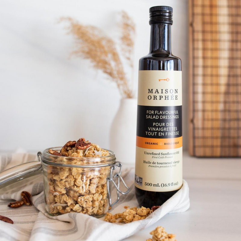 Organic Unrefined Sunflower Oil - Maison Orphee - Keto Certified by the Paleo Foundation