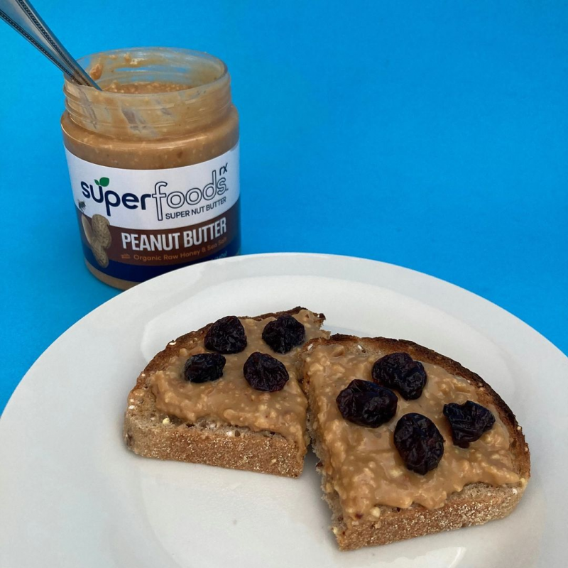 Peanut Butter With Raisins - SuperFoodsRx - Keto Certified by the Paleo Foundation