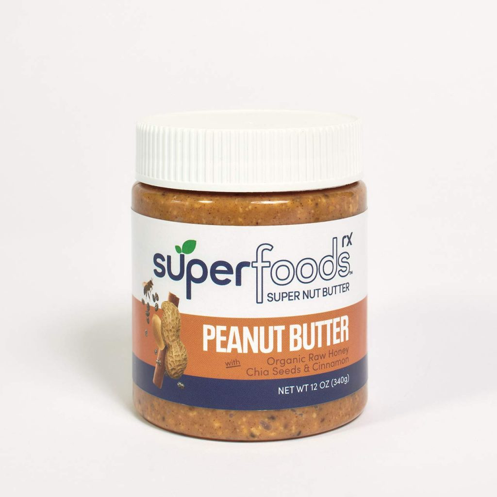 Peanut Butter with Organic Raw Honey, Chia Seeds and Cinnamon - SuperFoodsRx - Keto Certified by the Paleo Foundation