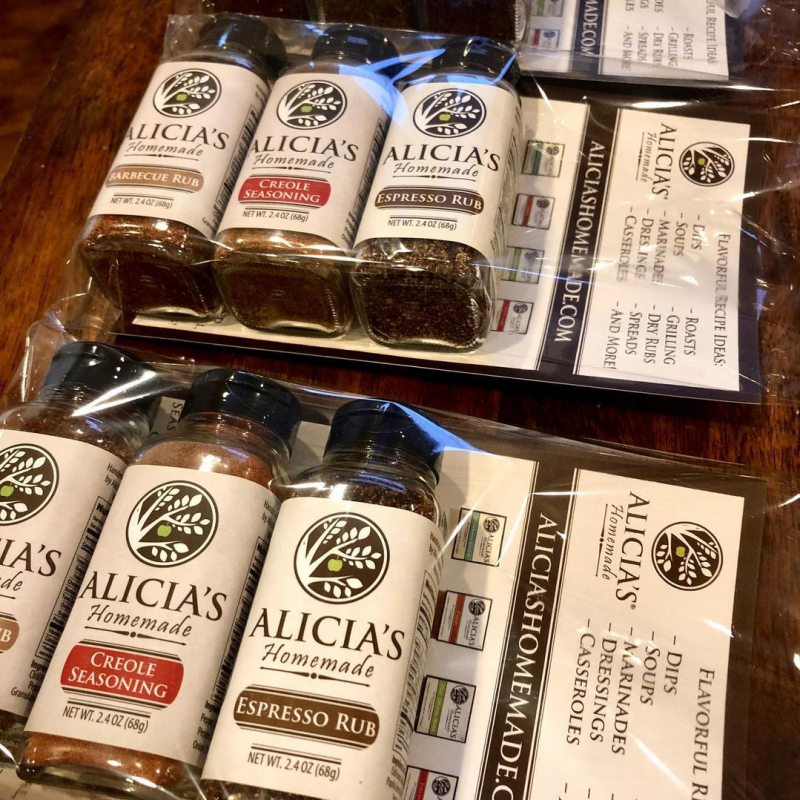 Rubs Lineup In Packaging - Alicia's Homemade - Keto Certified by the Paleo Foundation