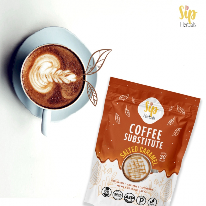Salted Caramel Coffee - Sip Herbal - Certified Paleo Keto Certified by the Paleo Foundation