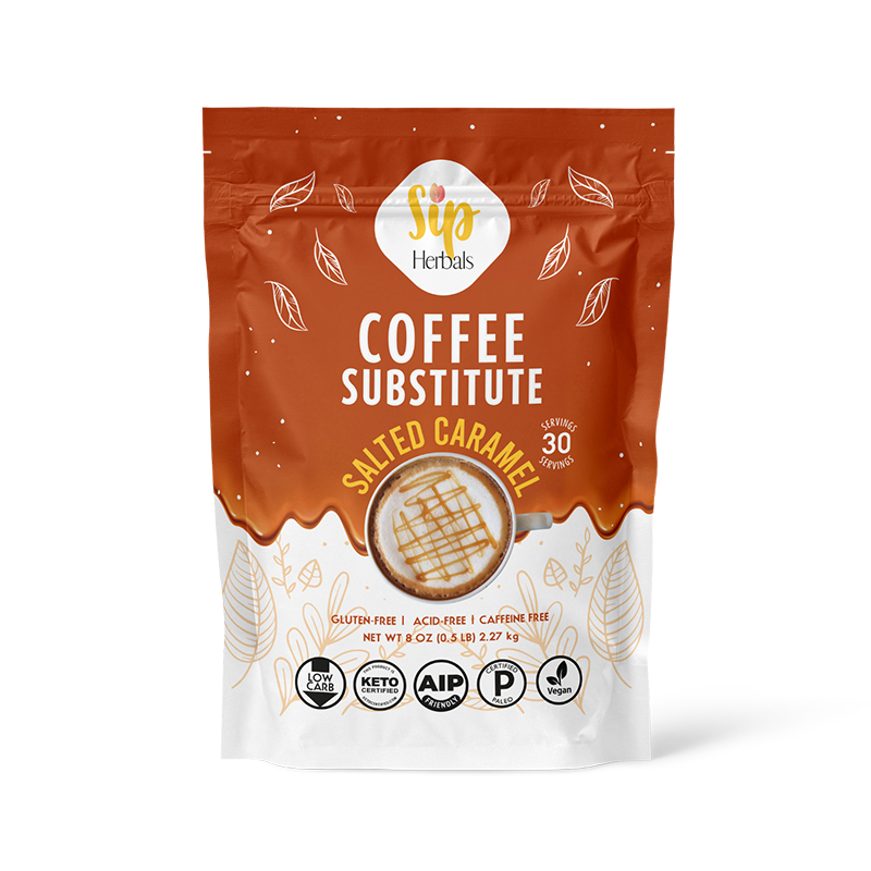 Salted Caramel Coffee Substitute - Sip Herbals - Certified Paleo Keto Certified by the Paleo Foundation