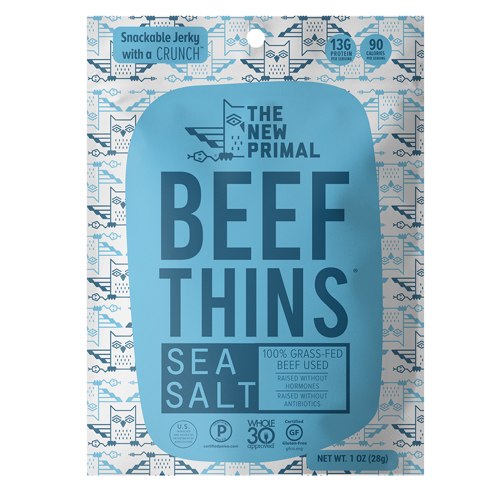 Sea Salt Beef Thins - The New Primal - Certified Paleo by the Paleo Foundation