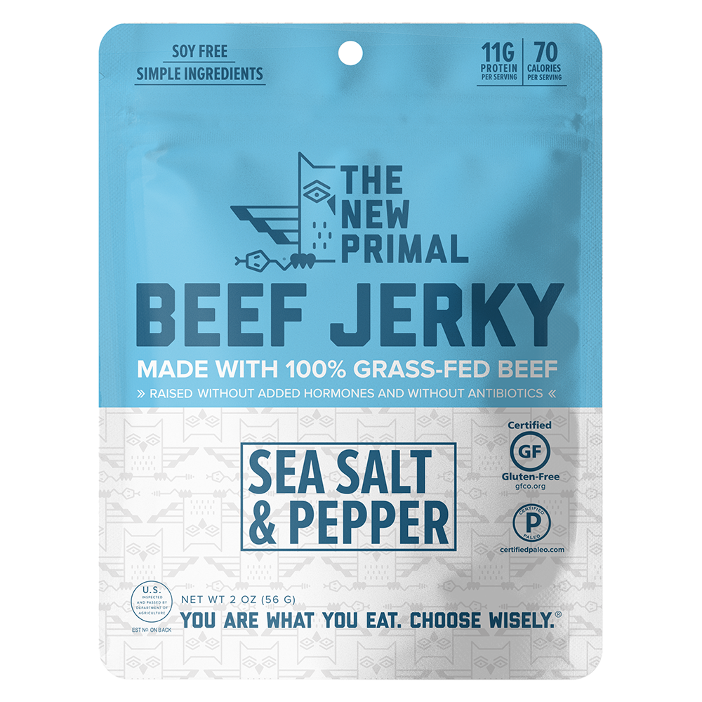 Sea Salt and Pepper Jerky - The New Primal - Certified Paleo by the Paleo Foundation