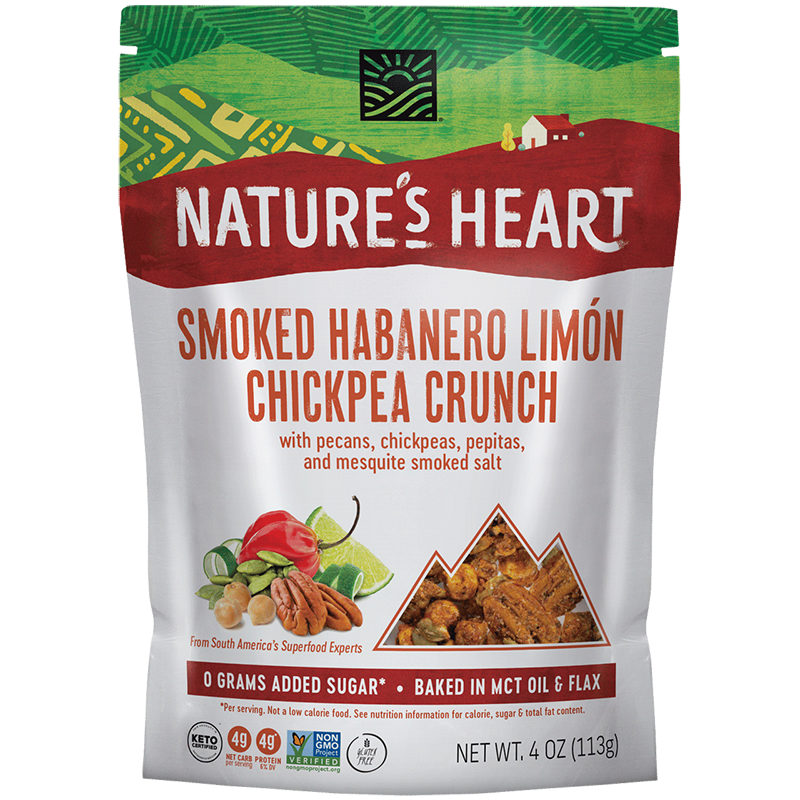 Smoked Habanero Limon Chickpea Crunch - Nature's Heart - Keto Certified by the Paleo Foundation