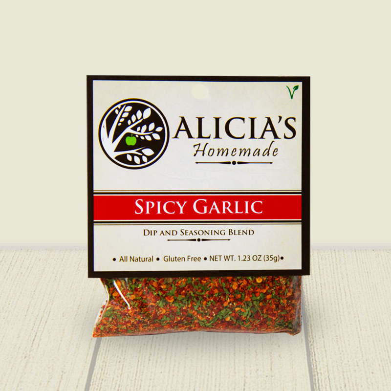 Spicy Garlic Seasoning Blend - Alicia's Homemade - Keto Certified by the Paleo Foundation