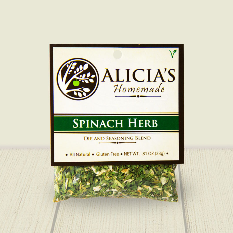 Spinach Herb Seasoning Blend - Alicia's Homemade - Keto Certified by the Paleo Foundation