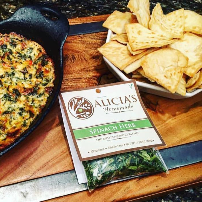 Spinach Herb With Pita Chips - Alicia's Homemade - Keto Certified by the Paleo Foundation