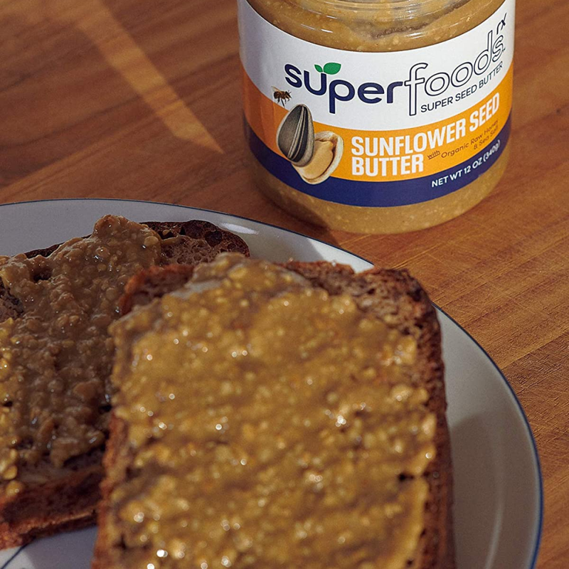 Sunflower Seed Butter On Bread - SuperFoodsRx - Keto Certified by the Paleo Foundation