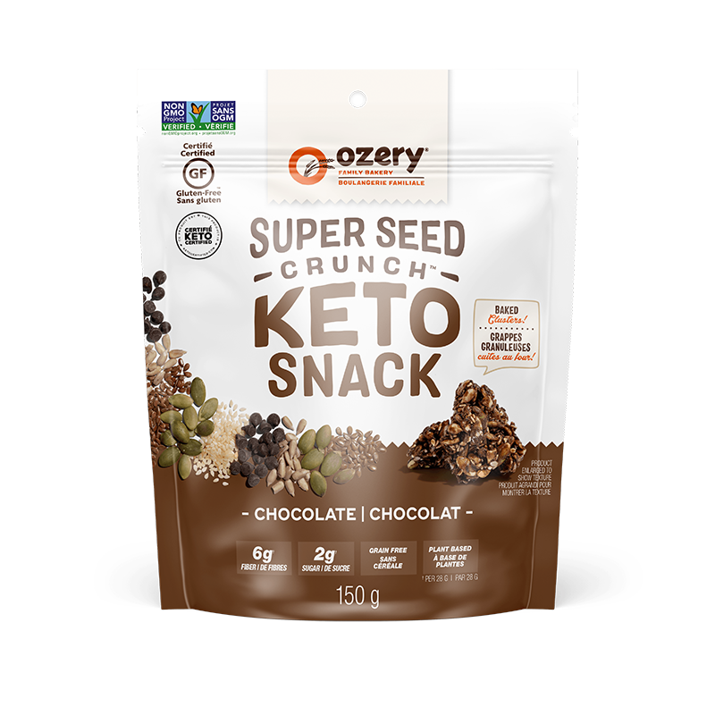 Super Seed Crunch Chocolate - Ozery Bakery - Keto Certified by the Paleo Foundation