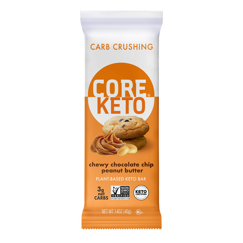 Keto Chewy Chocolate Chip Peanut Butter - Core Foods - Keto Certified by the Paleo Foundation
