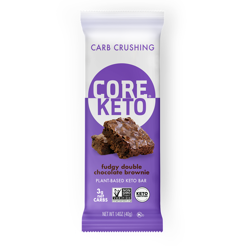 Keto Fudgy Double Chocolate Brownie - Core Foods - Keto Certified by the Paleo Foundation