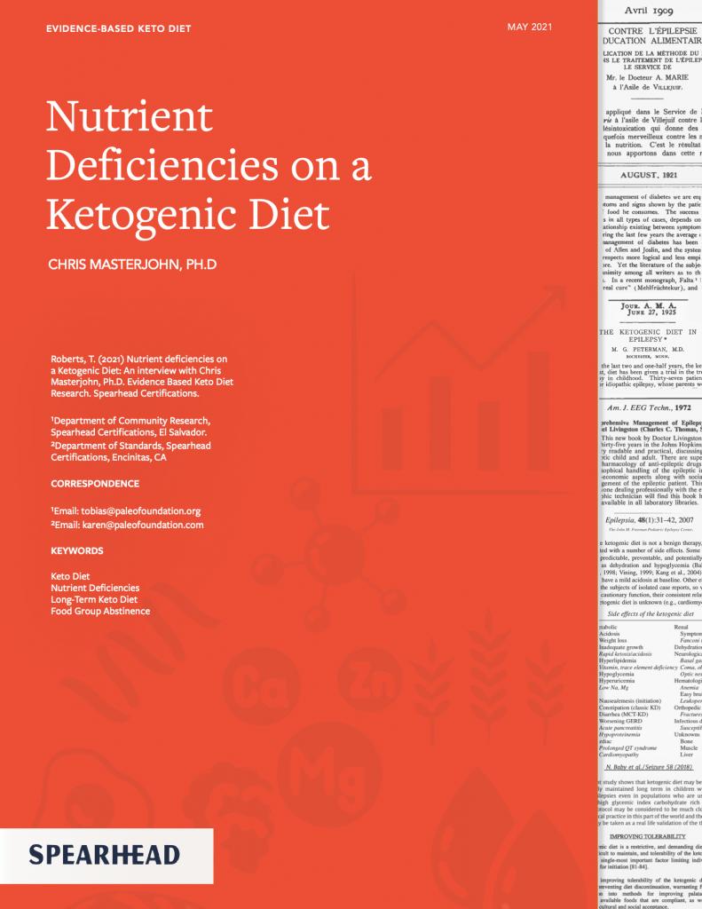 Nutrient Deficiencies on a Keto Diet Chris Masterjohn Ph.D.