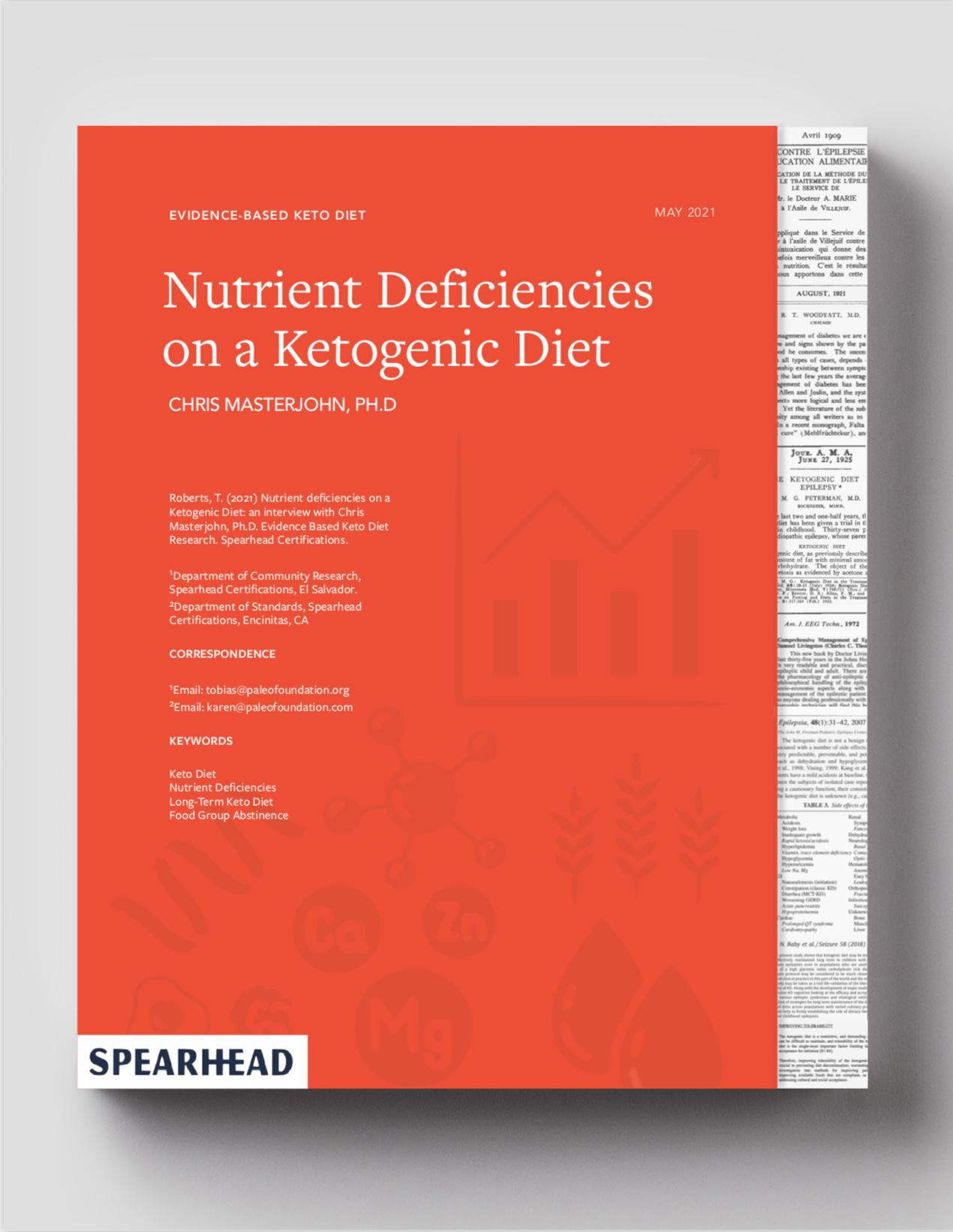 Nutrient Deficiencies on a Ketogenic Diet Chris Masterjohn Ph.D.
