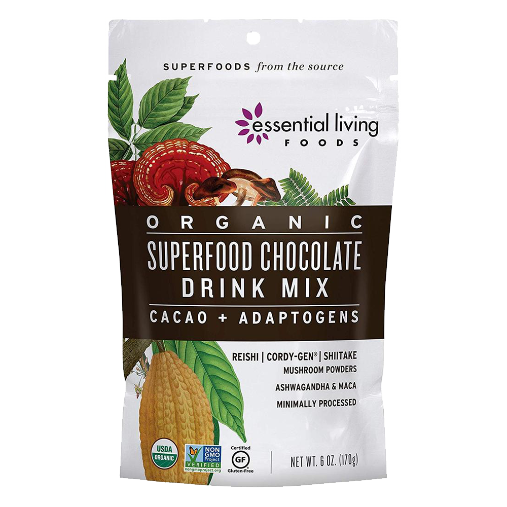 Organic Superfood Chocolate Drink Mix - Essential Living Foods - Keto Certified by the Paleo Foundation