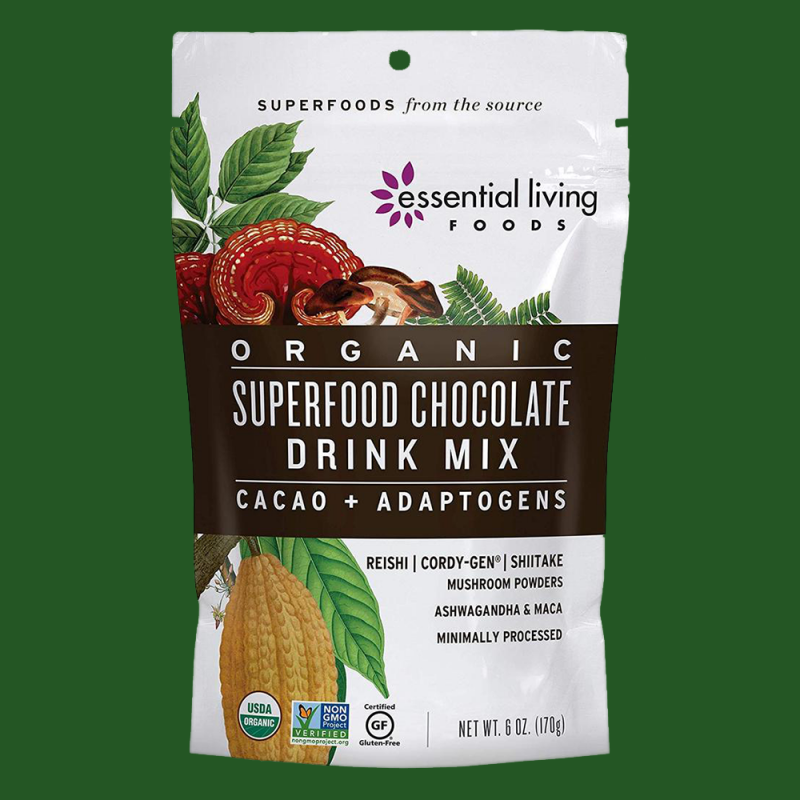 Superfood Chocolate Drink Mix Gallery 1 - Essential Living Foods - Keto Certified by the Paleo Foundation