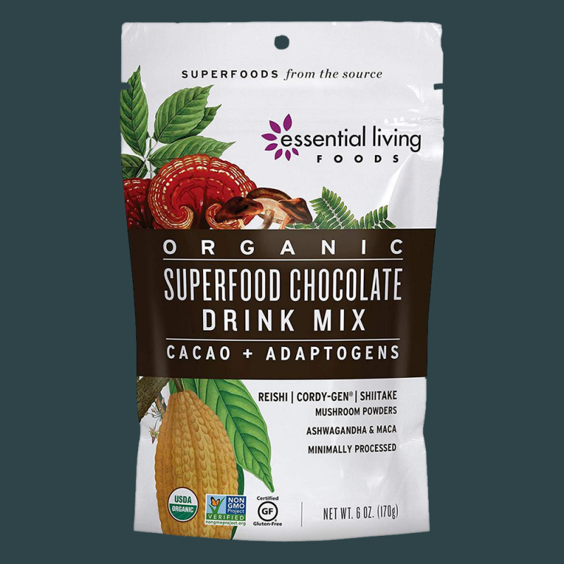 Superfood Chocolate Drink Mix Gallery 3 - Essential Living Foods - Keto Certified by the Paleo Foundation